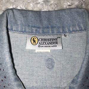 christine alexander Jackets & Coats - Christine Alexander Swarovski Crystal Denim Vest